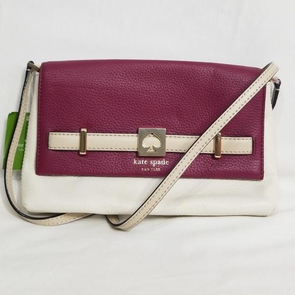 kate spade Handbags - NWT Kate Spade Houston Street Red Plum Loula Bag